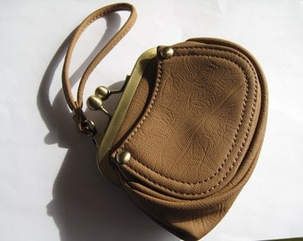 Destash-Tan Leather Wristlet