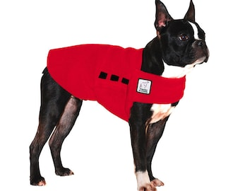 BOSTON TERRIER Tummy Warmer, Fleece Dog Coat, Dog Sweater, Dog Clothing