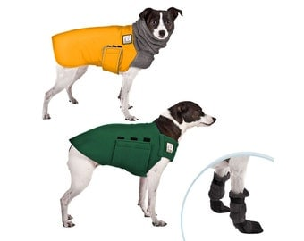 RAT TERRIER Cold Climate Special, Dog Booties, Fleece Dog Sweater, Waterproof Winter Dog Coat, Dog Jacket, Dog Sweater, Terrier Clothes