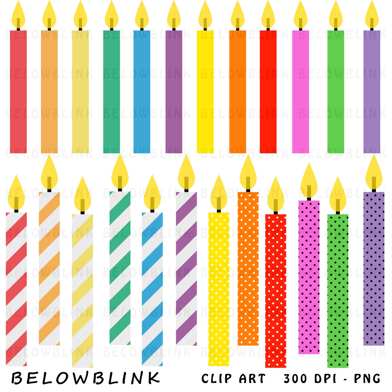 Birthday Candle Illustrations 41586 Professional Stock Clipart