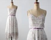 1970s floral handkerchief hem dress