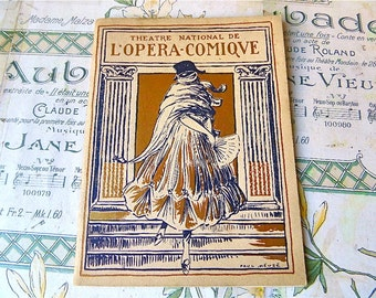 Opéra Comique Paris 1921  Original Theater   Program