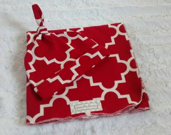 Swaddle blanket Red & White Print Swaddle Blankets