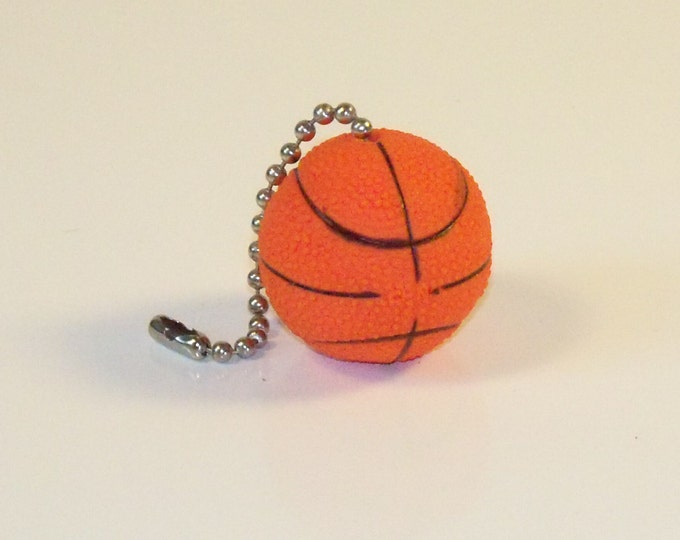 Basketball Ceiling Fan Lamp Pull Chain, Coaches Gift, Man Cave Decor, Sports Decor, Coaches Gift, Kids Room Decor, Gift for Him