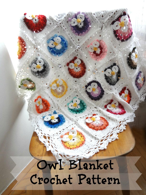 Digital crochet pattern owl crochetbaby blanketphoto zoom bankloansurffo Image collections