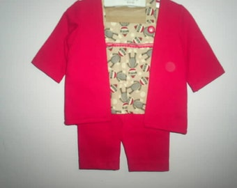 3 piece jacket , shirt, capris, for 18 inch doll