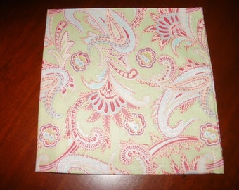 6 Reusable, Eco Friendly, Cotton Napkins...17 inches...Stitched Hems Not Serged...FREE SHIPPING