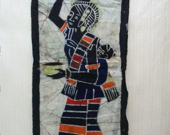 Crafts, Supplies, Fabric Remnant, Batik Fabric Remnant, Handmade Batik Fabric Remnant, Craft Fabric,