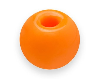 150 ORANGE GUMBALL Beads 8mm Bubblegum Resin Round H446