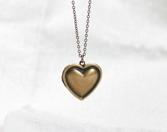 Antique style Simple Heart Locket - S2092-2