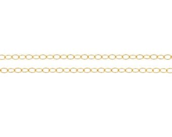 14Kt Gold Filled 1.6x1.3mm Cable Chain - 20ft 20% discounted price good quality chain (2340-20)/1