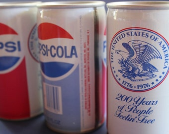 Pepsi Can, Bicentennial, Pepsi, Collectible, Can, Pull Tab