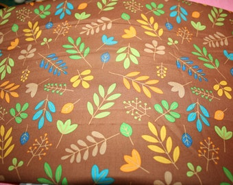 Brown Leaves print from Zoofari by Riley Blake