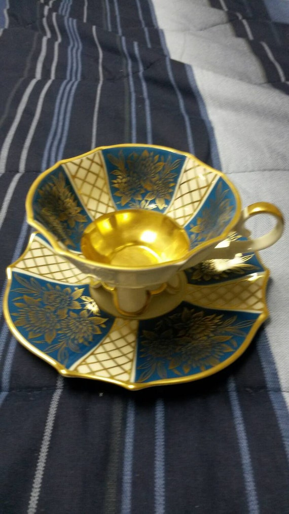 Four Footed Alka Kunst of Western Germany cup and saucer circa 1953-1970-  675