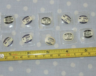 Watch Crystals - 10 pieces - Glass - Old Stock (H1)
