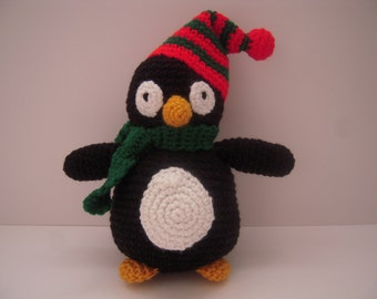 Items similar to Crocheted Stuffed Snowman on Etsy