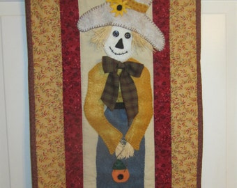 Fall wall / door decoration. Wall Hanging. Scarecrow 14 x 34