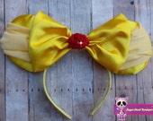 Yellow princess Inspired Mouse Ears