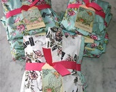 Bridesmaids Robe. Kimono Robe. Bride and Kimono Robe Bridesmaid Set. Getting Ready Robe. Joie De Vivre. Joy of Living. Knee Length.