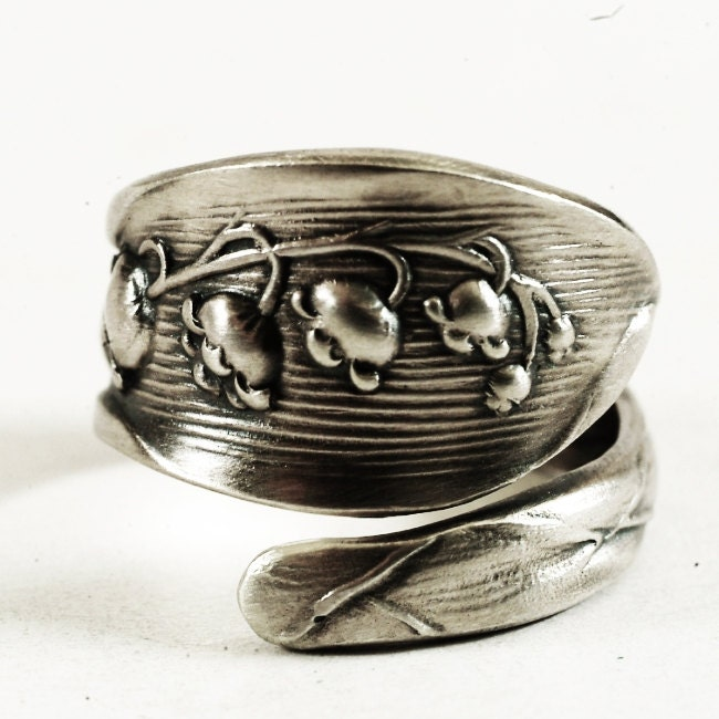of the valley ring sterling silver spoon ring