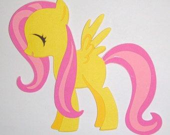 My Little Pony Fluttershy  Paper Die Cut Paper Doll Scrapbook Embellishment