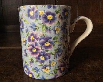 Vintage English Flower Arthur Wood Tea Cup Mug circa 1970's / English Shop
