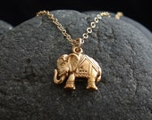 Elephant Pendant Necklace, lucky elephant necklace, bronze elephant,Mother's Day Gifts,