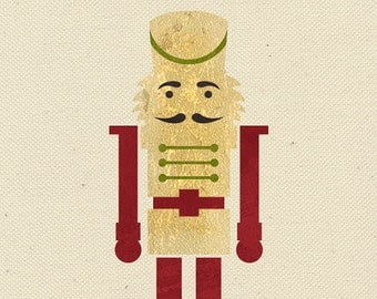 Nutcracker Christmas Wall Motif DIY Stencil - Holiday Decorating and Painting Crafts