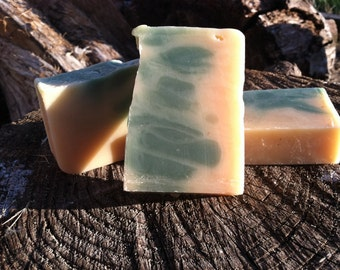 Eucalyptus Mint Soap - cold processed soap made with honey and beeswax