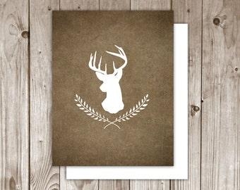 SALE - Set Of 2 - Deer - Note Cards