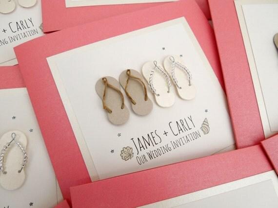 Flip Flop Wedding Invitations Destination Wedding Beach