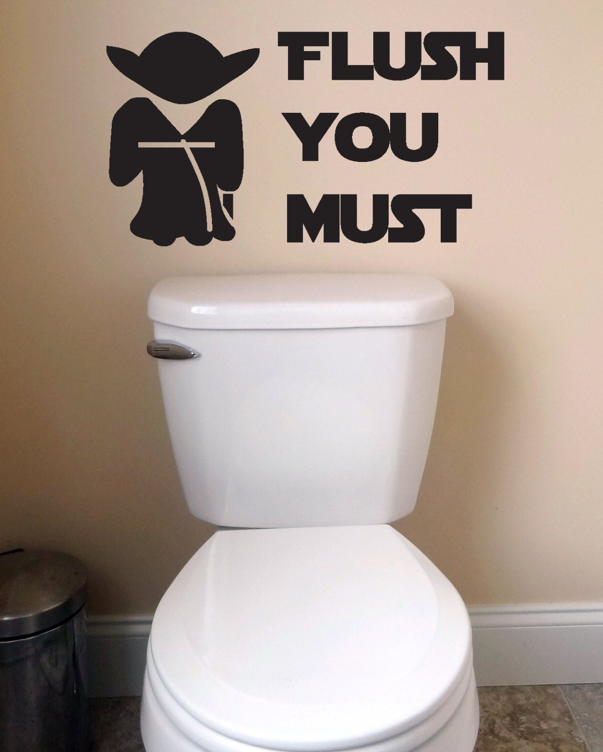 Bathroom wall decals kids d cor wall toilet decal wash flush for Toilet decor
