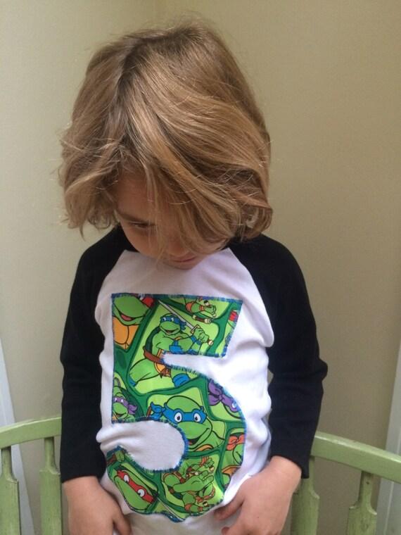 Custom Teenage Mutant Ninja Turtle Number Or Initial T Shirt