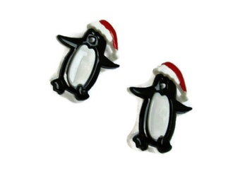 Penguin Buttons.... Set of 2