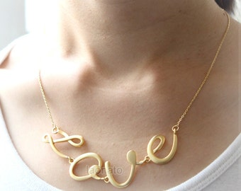 Big Love Necklace / choose your color, gold, silver