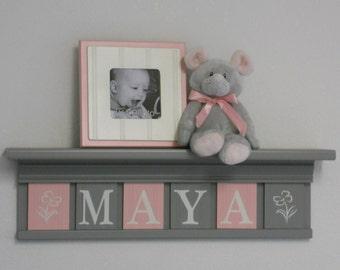Girl Nursery. Pink and Grey   Home decor, Decor, Girl nursery  Pink And Grey Bookcase