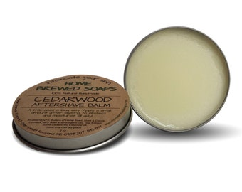 Aftershave Balm for Men - Cedarwood Aftershave Lotion - Mens Grooming