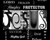 JESUS Alphabet Photography Letter Art - (various sizes)