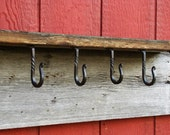 Wrought Iron Shelf Hooks, Set Of Six