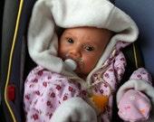 Baby Sleeper, Baby Sleeping Bag Jacket, New Born Present, Baby Shower Gift,