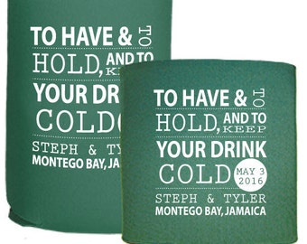 Personalized Wedding Favors Beer Coolers Custom Something