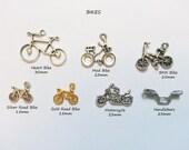 ADD A CHARM - Bikes Motorcycles Gears Nautical Beach Shamrock Ribbon Awareness Sports - CHMISC01