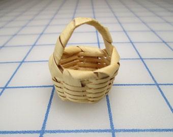 Vintage Miniature Woven Basket
