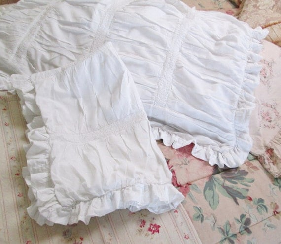 Simply Shabby Chic Pillows : rachel ashwell simply shabby chic white pillow shams ruffled