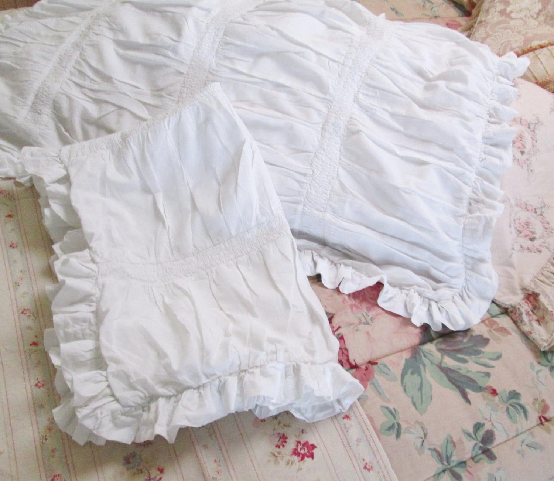 Shabby Chic King Size Pillow Shams : rachel ashwell simply shabby chic white pillow shams ruffled