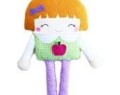 Schoolgirl Doll Sewing Pattern Girl Doll Softie PDF Childrens Sewing Pattern Fabric Doll