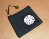 Clock coin purse.