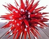 Christmas Ornament Polish Star - Red and White Polka Dot