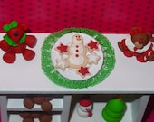 Miniature Plate of Christmas Cookies