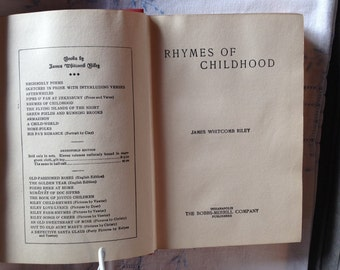 Rhymes Of Childhood by James Whitcomb Riley 1900 printing